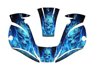 MILLER digital elite WELDING HELMET WRAP DECAL STICKER jig welder BLUE skull