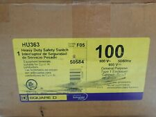 New In Box Square D Hu363 100 Amp 600 Volt Non Fused Indoor Disconnect Switch