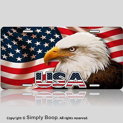 Custom License Plate American Flag And Eagle Usa 1a Ebay