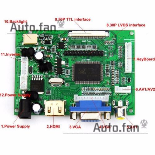 for LP133WX3-TLA6 LTN133AT0 1280x800 LCD Controller Driver Board HDMI+VGA+2AV