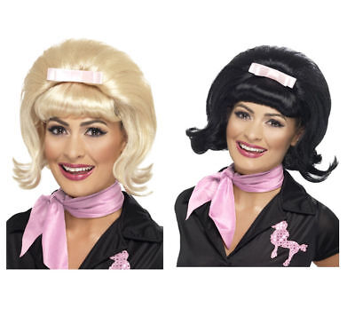 Ladies Styled Black Flick Bob Wig Stepford Wives Desperate Housewives Fancy Dres