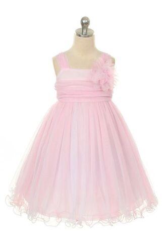 Flower Girl Dress Girls Party Formal Birthday Graduation Dress Size 2 to 14