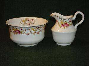 In Workmanship Vintage Bone China Cream & Sugar Hector Exquisite