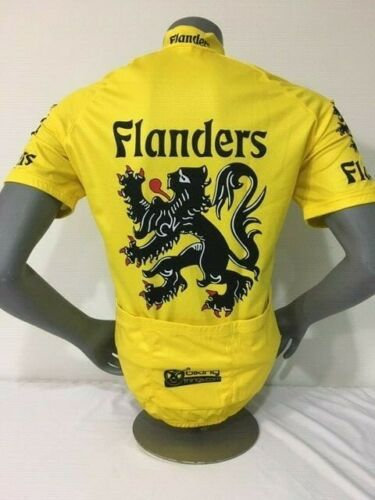 BELGIUM BIKE JERSEY FLANDERS LION RETRO BIKES SHIRT SIZE XXL BIKE JERSEY FLEMISH