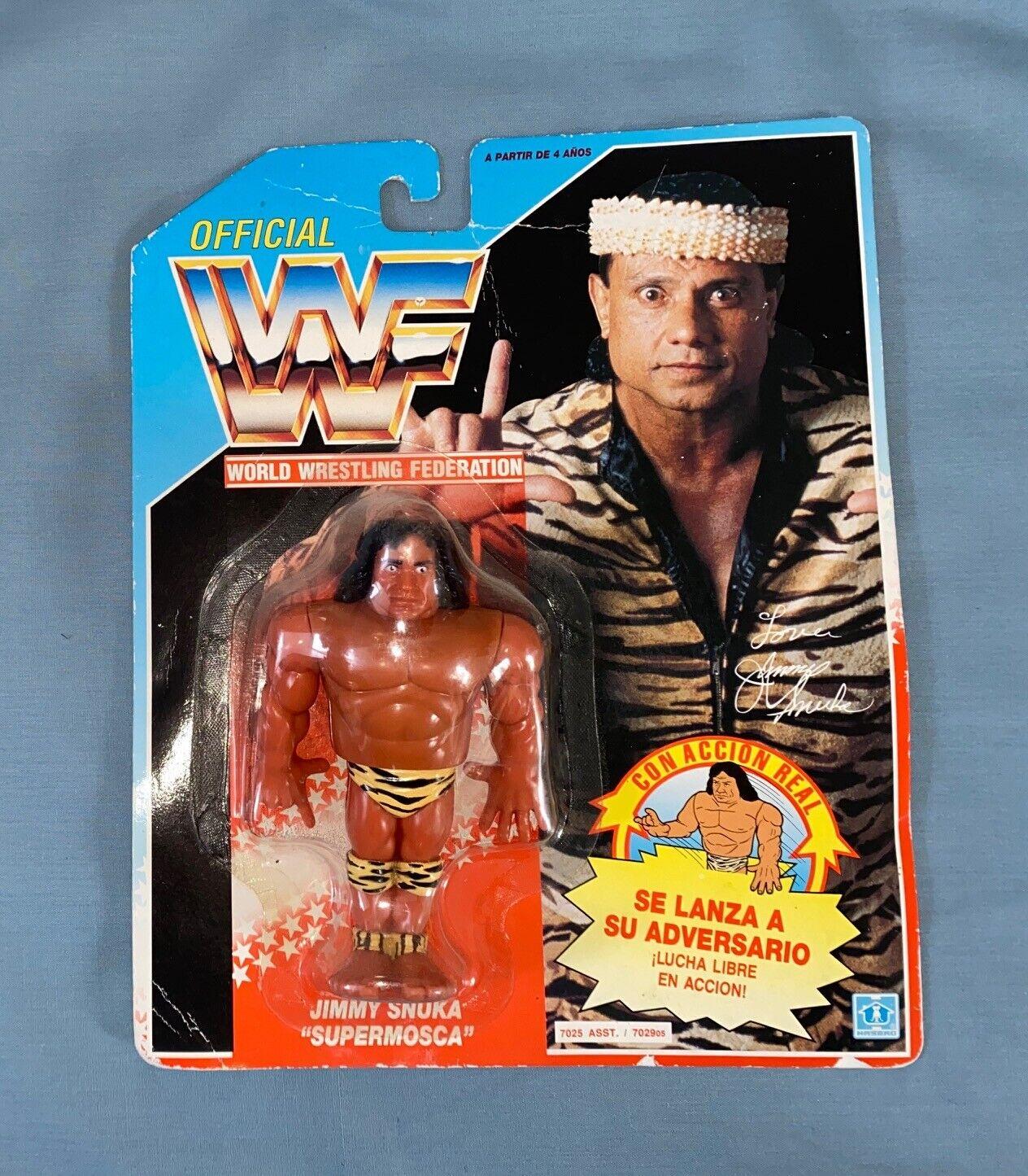 WWF Hasbro Blau voitured serie 2 Jimmy Superfly Snuka Figure, WWE, MOC