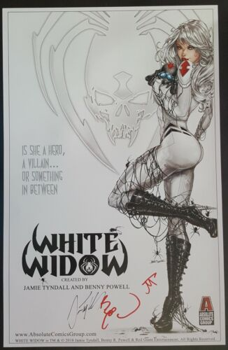 """White Widow 11/""""x17/"""" Mega Con Exclusive Poster Signed 3X ! NM"""