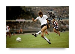 Bryan-Robson-Signed-6x4-Photo-England-Manchester-United-Genuine-Autograph-COA