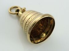 Fine Vintage 9k 9ct Yellow Gold Large Bell Charm Pendant