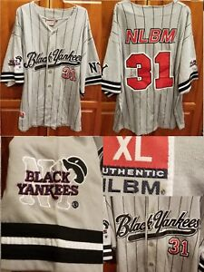 NLBM Negro Leagues Baseball Jersey New York Black Yankees Black  31 ... 331bc11e88f