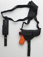 Gun Shoulder Holster With Single Mag Pouch For Taurus Pt709 / Pt740 Slim