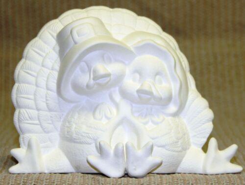 Ceramic Bisque Turkey Cuddles Clay Magic Mold 1564 U-Paint Ready To Paint