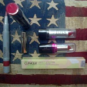 4pc-lip-balm-set-Sonia-Kashuk-L-A-Colors-x2-and-Clinique-see-description