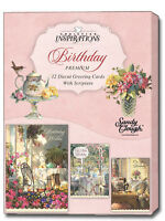 Sandy Clough: Time For Tea Box Of 12 Assorted Christian Birthday Cards
