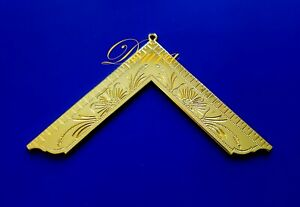 Details about Masonic Collar Jewel Worshipful Master Gold Plated Large 4