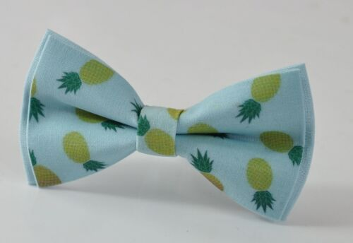 Baby Blue Pineapple Pattern Cotton Bow tie for Men Youth Boy Baby Kids