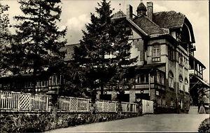 Jößnitz Plauen Vogtland DDR Ansichtskarte 1956 Straßenpartie am Bahnhof Hotel