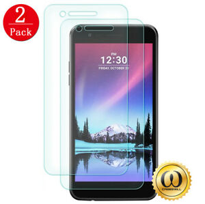 [2-PACK] LG Aristo 2, Stylo 4, G7, G6, V30 Clear Tempered Glass Screen Protector
