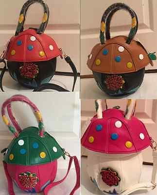 Funky Mushroom Tote Ladies Faux Leather Satchel Cross Body Bag Gifts