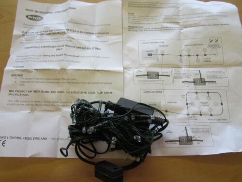 5.9m Bouff 12V 3W 50xBlue LED String Light for Garden RING Linking LED Lighting