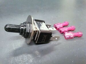 turn toggle switch water resistant 3 way on  off  on dash