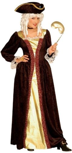VENEZIANO noblewoman Lady Medievale Masquerade Ball Signore Fancy Dres Costume S-XL