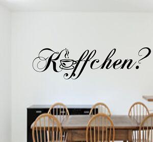 Details zu KÄFFCHEN?Wandtattoo mit Kaffeetasse Wanddekoration Küche Motiv  Aufkleber Worte