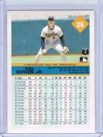 Rare! 1992 FLEER WRONGBACK ERROR - Cal Ripken Jr Orioles #26 - Steve Frey Expos