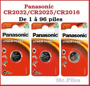Piles-cells-boutons-Panasonic-3V-lithium-CR2032-CR2025-CR2016-free-shipping