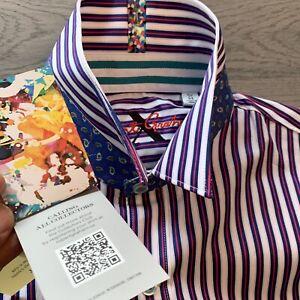 Robert-Graham-Striped-Stretch-Limited-Modern-Comfort-Fit-Mens-Shirt-Shirt-3XL