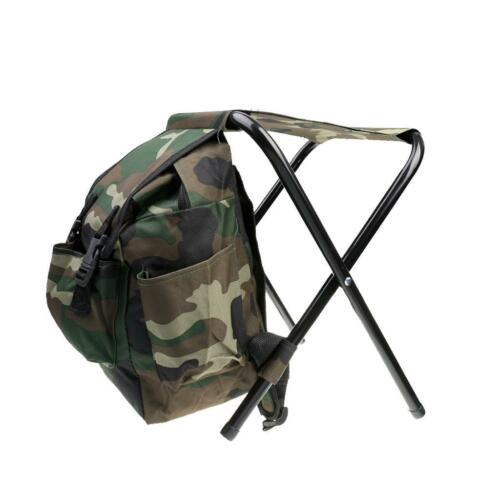 Fishing Stool with Backpack Rucksack Seat Chair for Hunting Camping Picnic