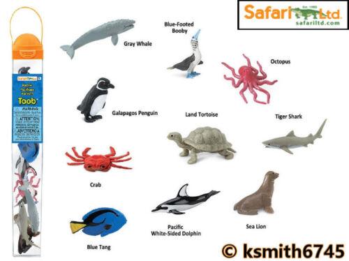 Safari PACIFIC TOOB Jouet en plastique Sauvage Mer Animal Marine Tube Paquet de 10 nouveaux