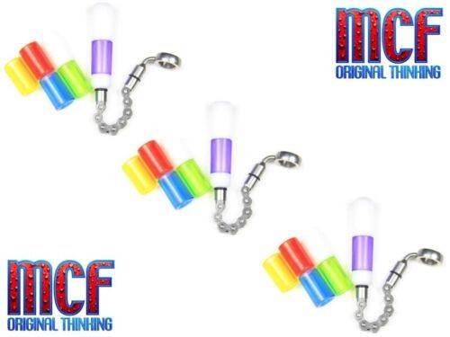 3 x MCF flipper Bobines Cintres Carp Fishing Tackle Morsure Indicateurs