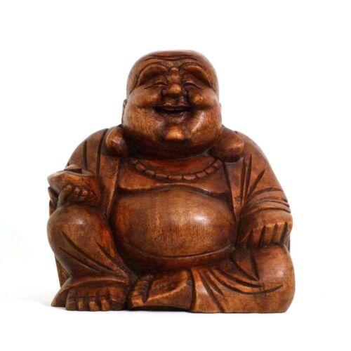 Happy Bouddha Bois Statue Sculpture Abstrait Figurine en Bois Afrique Asie