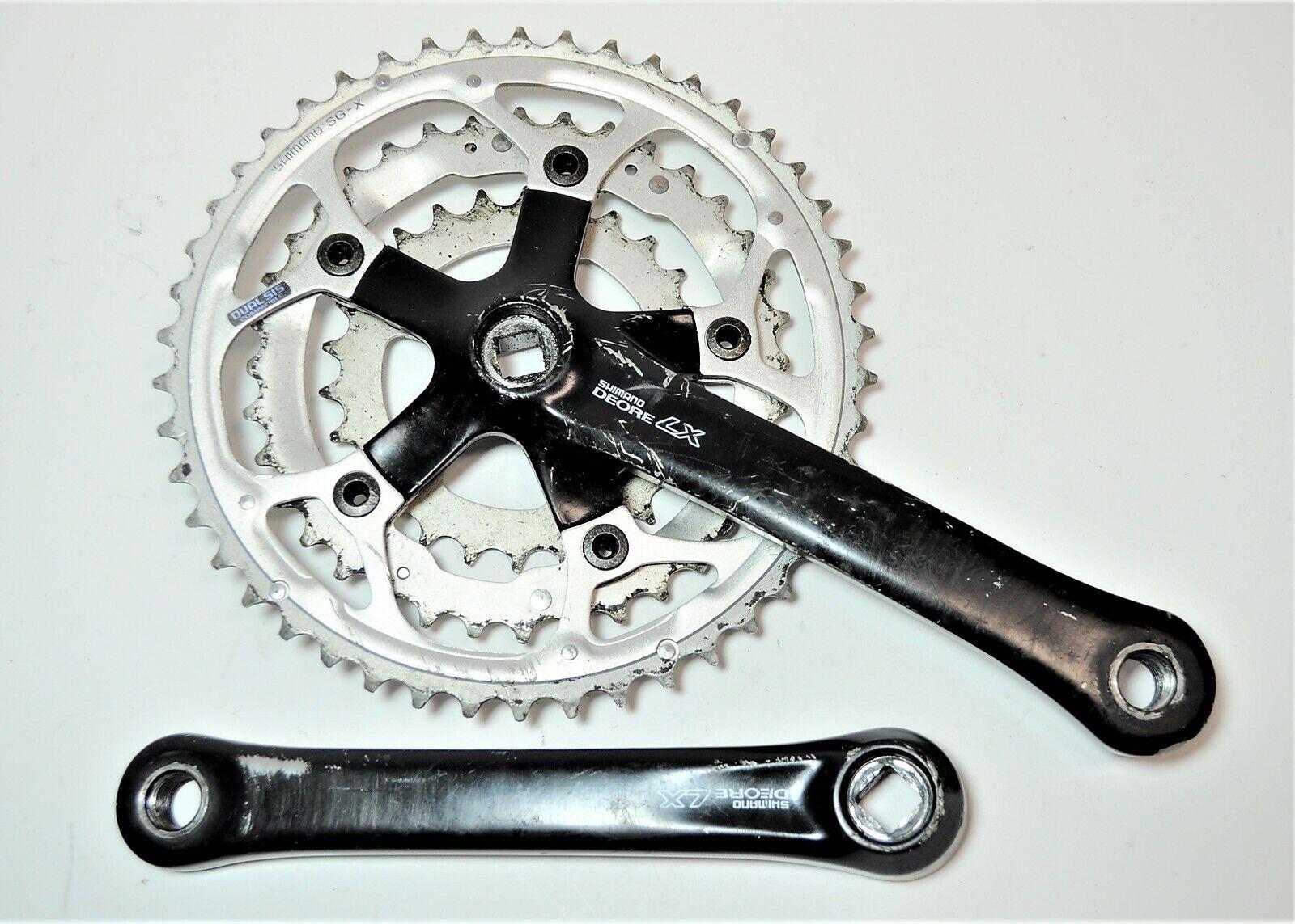 VINTAGE SHIMANO DEORE LX DUAL SIS BICYCLE 175 MM SG-X 46 36 26 CRANKSET FC-M560