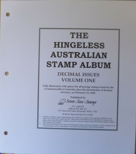 SEVEN SEAS 1966 1987 AUSTRALIA DECIMAL Volume 1 HINGELESS ALBUM + SLIPCASE NEW