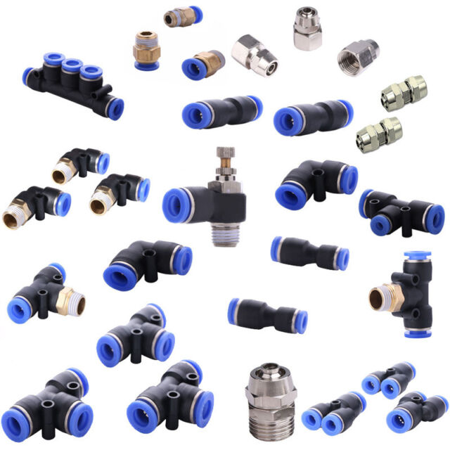 225 Types Good Pneumatic Air Adapter Gas Quick Push Fittings Connector Tube Hose