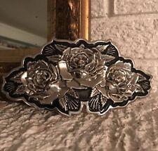 Famous Stars & Straps Roses Metal Belt Buckle Huge Buckle - Three Rose Design