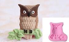 b) Silicone Owl Mold Shape Chocolate Fondant Cake Sugar Craft Decor Baking Tools