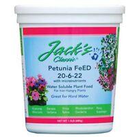 Jacks Petunia 20-6-22 Plant Food 1.5 Lbs. (single Unit)