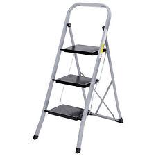 Non Slip 3 Steps Ladder Stool Folding Ladder Safety Tread Kitchen Home Use 300lb