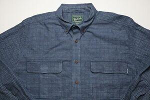 Woolrich-Mens-Button-Down-Shirt-Shirt-Sportsman-Outdoors-Size-2XL-Cotton-Blue