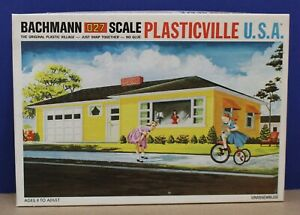Plasticville-1852-O-Ranch-House-Kit-LNIB-Blue-Sides-Dk-Gray-Roof-LNIB-60s