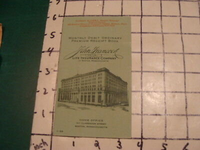 vintage original booklet -- 1939 -- JOHN HANCOCK life ...