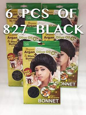 "QFITT ORGANIC ARGAN OIL TREATED 22/"" BLACK BONNET #827"
