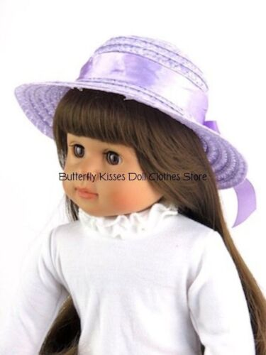 Lavender Straw Ribbon Hat 18 in Doll Clothes Fits American Girl