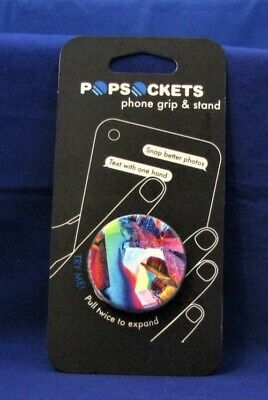 Collapsible Grip /& Stand for Phones and Tablets PopSockets Rainbow Gem Gloss