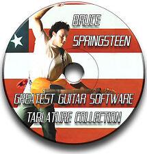 BRUCE SPRINGSTEEN THE BOSS ROCK GUITAR TABS TABLATURE SONG BOOK SOFTWARE CD