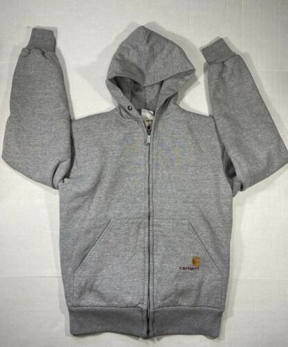 Carhartt Mens Zip Up Hooded Sweatshirt Jacket Hood