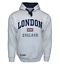 LE129GN Unisex London England Hoodie Hooded Sweatshirt Grey Navy XS-2XL