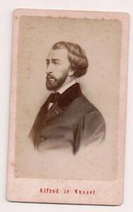 Vintage-CDV-Alfred-de-Musset-French-dramatist-poet-and-novelist-E-Neurdein-Ph